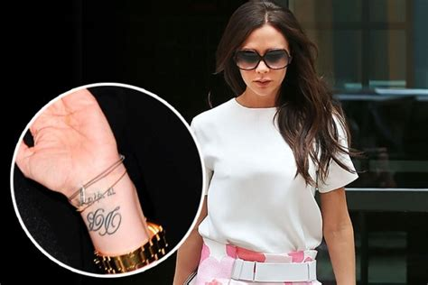victoria beckham tattoo removal make me posher beckham removal revealed