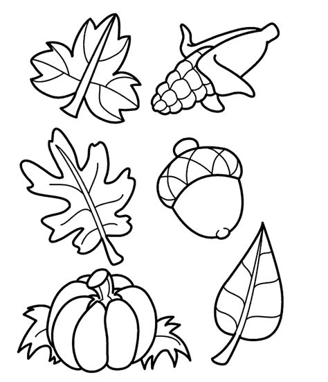 coloring pages fall harvest leaves to color coloring part 8