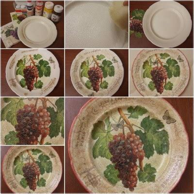 What Do You Need To Decoupage - how to make plate decoupage step by step diy tutorial