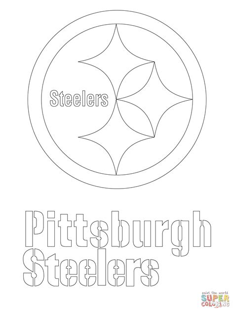 pittsburgh steelers logo google search silhouette pittsburgh steelers logo coloring page free printable