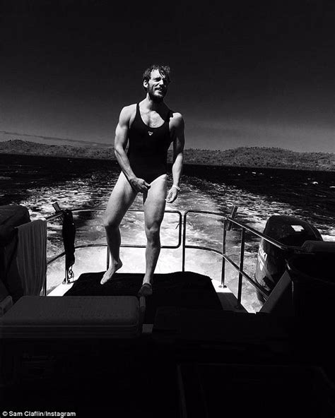 sam s boat instagram sam claflin dons shailene woodley s swimsuit on instagram