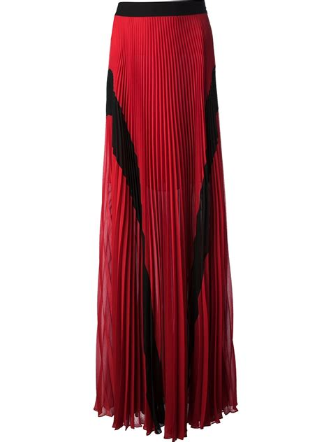 jean paul gaultier pleated maxi skirt in lyst
