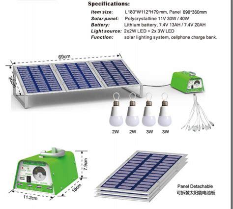 Lu Hias Dekorasi Solar Panel 30 Led 6 5 Meter Warm White 30w 11v powerful solar system kit led light solar power kit buy solar power kit solar power