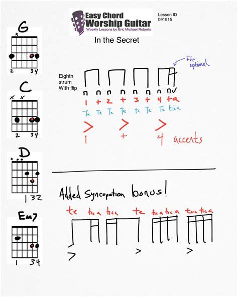secret easy chords in the secret lesson id 091915 easy chord worship guitar