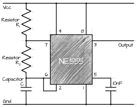 circuits calculator 555 ne555 astable circuit calculator