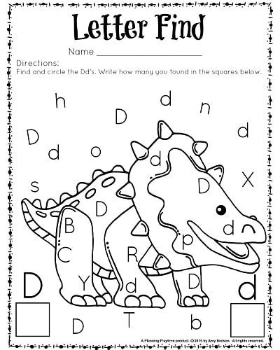 letter find worksheets with a freebie planning playtime