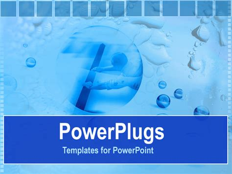 powerpoint template a number of blue bubbles with boxes