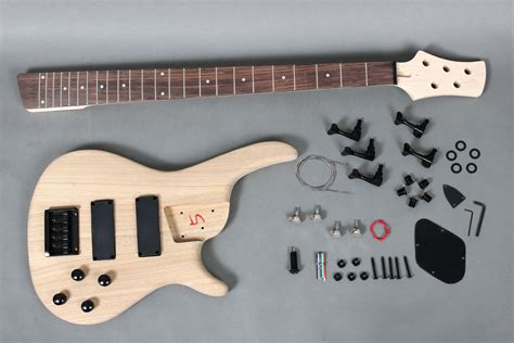 diy bass guitar kit 5 strings electric bass guitar diy kit with solid ash gk se5 720 byguitar