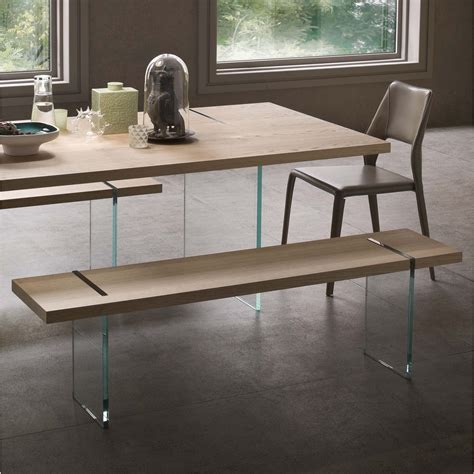 Panca In Legno Design by Panca Di Design In Legno E Cristallo Glassy Arredaclick