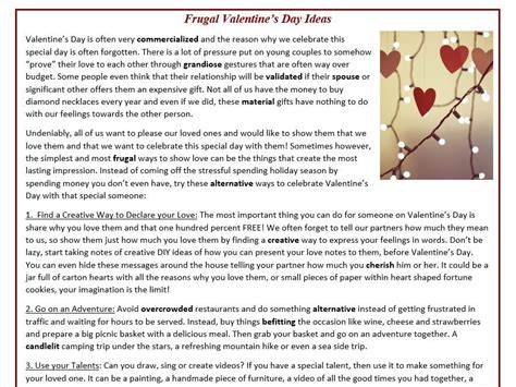 reading training missing frugal valentine s day ideas reading comprehension text by mariapht teaching resources tes