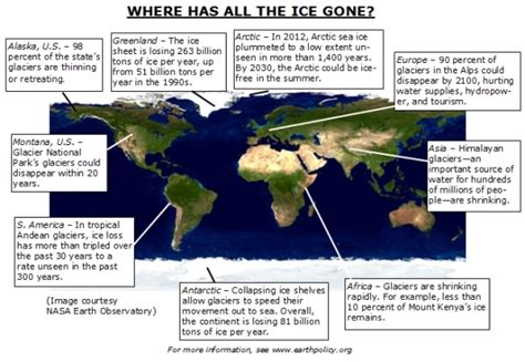 map world after glaciers melt where has all the understanding climate change