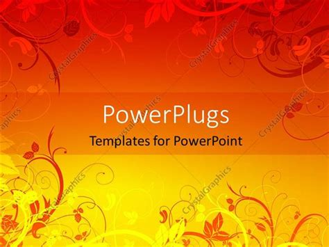 Powerpoint Template Orange And Yellow Color Vector Floral Colorful Floral Powerpoint Templates Flowers Orange