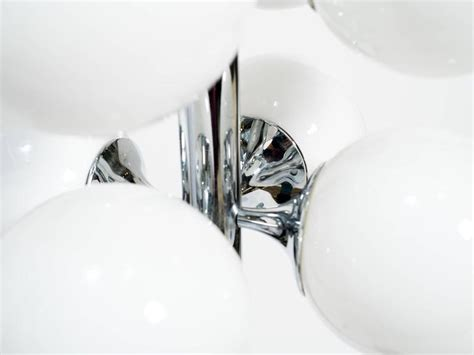 chrome globe floor l lightolier chrome glass globe floor l for sale at 1stdibs