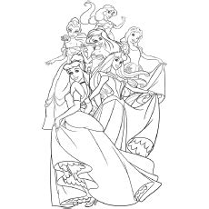 top  disney princess coloring pages    girl