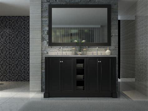 Westwood Kitchen Cabinets Ariel Westwood 60 Quot Sink Vanity Set In Black Kitchen And Bath Masters