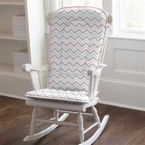 Nursery Rocking Chair Cushions Pink And Gray Chevron Rocking Chair Pad Carousel Designs