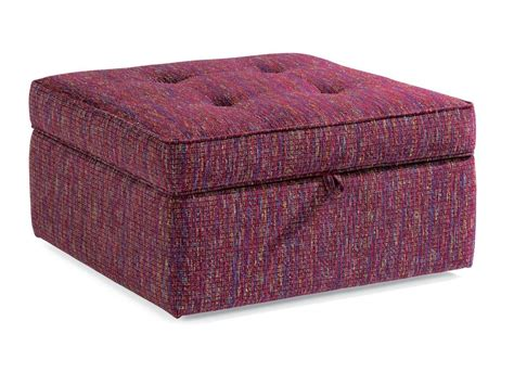 storage fabric ottoman flexsteel living room fabric square storage ottoman 7408