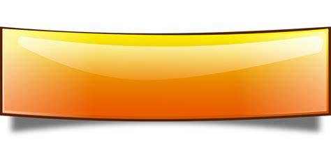 design banner orange free vector graphic banner bended glossy ribbon free