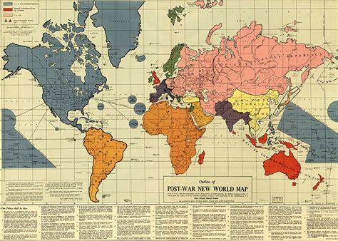 map us new outline of the post war new world map