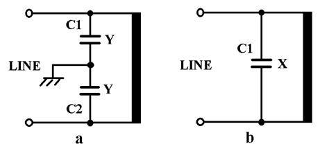 use of y capacitor replacing capacitors