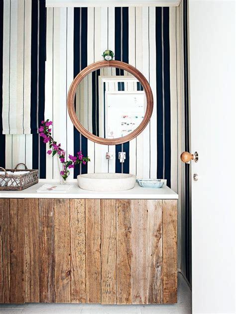 striped wallpaper for bathrooms bathroom vertical masculine stripes wallpaper home