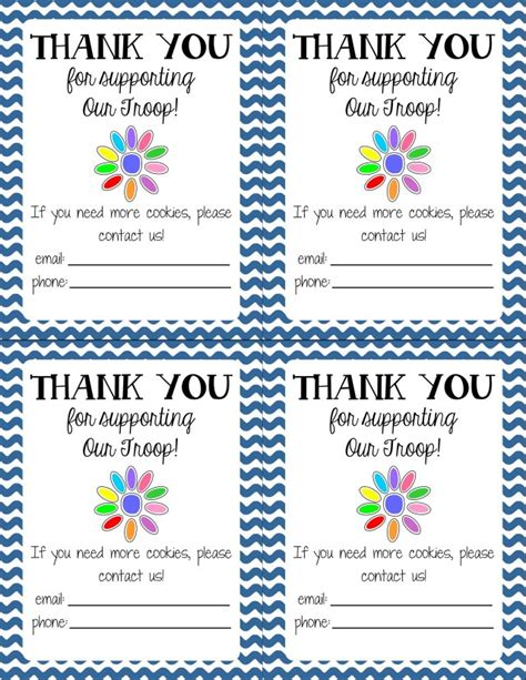 printable thank you cards girl scouts it s girl scout cookie time get s moore