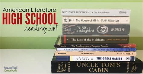 American Literatur american literature high school reading list
