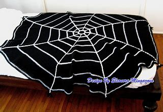 crochet spider web pattern blanket ravelry halloween spider web crochet blanket throw