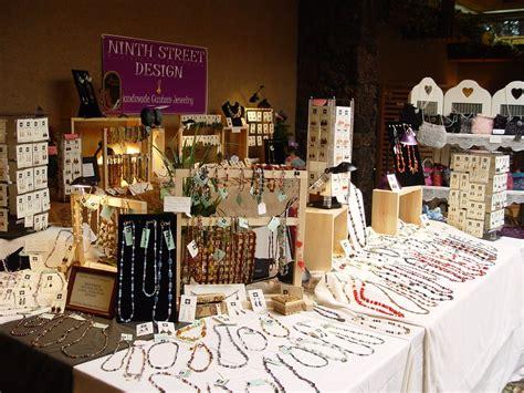 Crafts fair displays