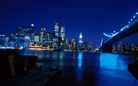 New York City At Blue Night Wallpapers - 1280x800 - 236456