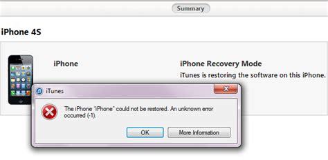 how to fix itunes error 1 iphone 5 4s 5c 5s 6 6 6s 6s