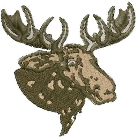 embroidery design moose moose head embroidery design annthegran