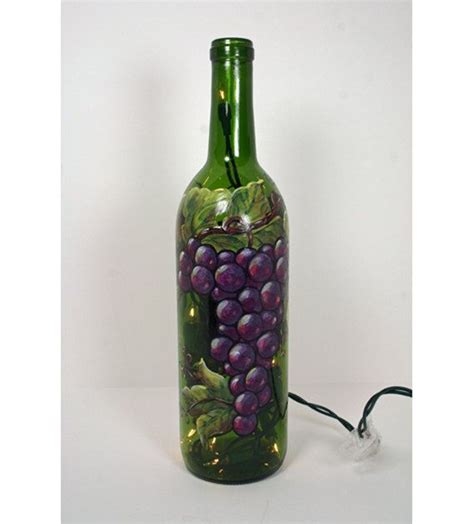 decorated wine bottles with lights inside 17 best images about glass bottles decorated on