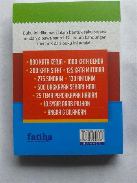 Kamus Saku Indonesia Spanyol Buku Kamus buku saku kamus santri hebat cepat menguasai bahasa arab