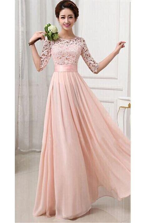 Idw081 Pink Size 15 5 pink womens lace chiffon pleated half sleeve maxi evening