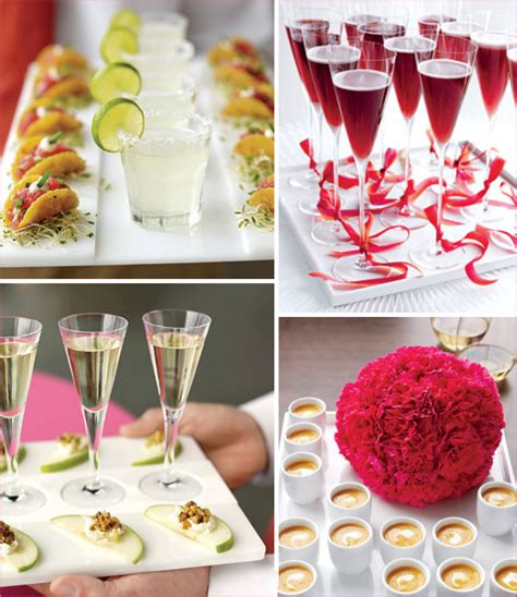 cocktail engagement ideas bright modern cocktail reception hostess with the