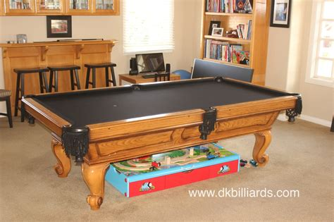 black pockets and black felt dk billiards service