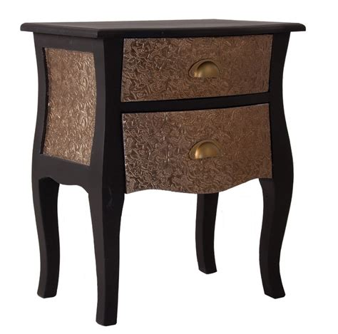 comodino stile provenzale comodino provenzale nero e oro mobili etnici