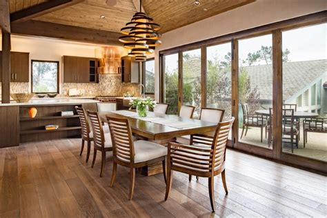 tropical dining room  artificial plants  trees