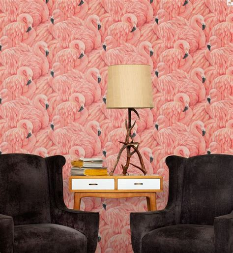flamingo heaven wallpaper superb albany flamingo wallpaper pink pinterest