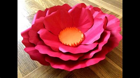 youtube paper flower tutorial how to make paper flowers giant paper flower tutorials