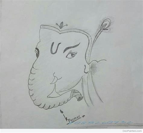 Ganesh Ji Sketches by Pencil Sketch Of Lord Ganesh Ji Desipainters