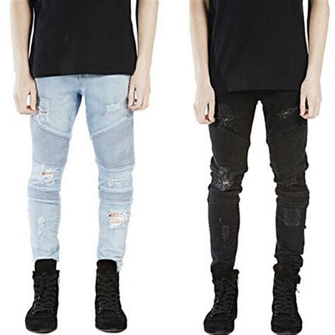 new pattern jeans for man aliexpress com buy runway rider mens super skinny slim