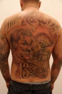 joker tattoo on back joker tattoo on back tattoo from itattooz