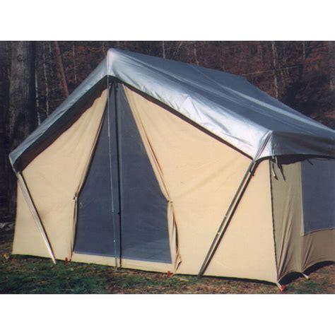 Canvas Cabin Tents by Trek Tents 10 X 14 Canvas Cabin Tent Khaki 93359