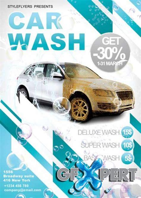 free car wash v5 flyer psd template facebook cover download