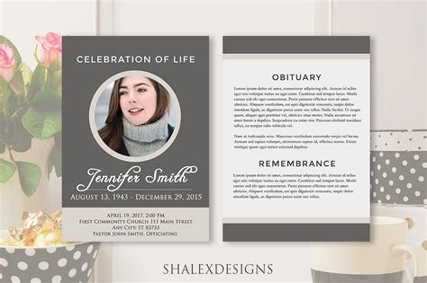 funeral brochure template funeral program template gray brochure templates