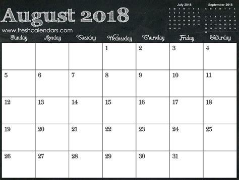 Blank August 2018 Calendar Printable Templates Free Calendar 2018 Template