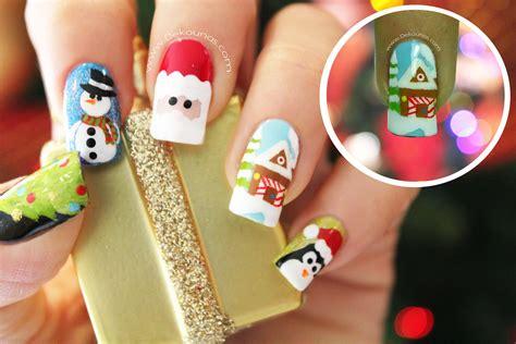 imagenes de uñas pintadas para navidad decoraci 243 n de u 241 as navidad casa navide 209 a youtube