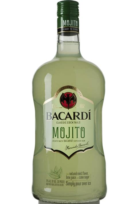 mojito cocktail bottle bacardi cocktails mojito